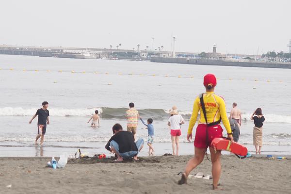 浜辺の様子