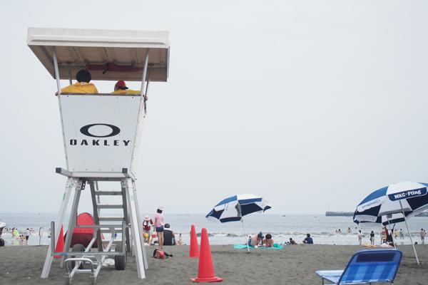 浜辺の監視台