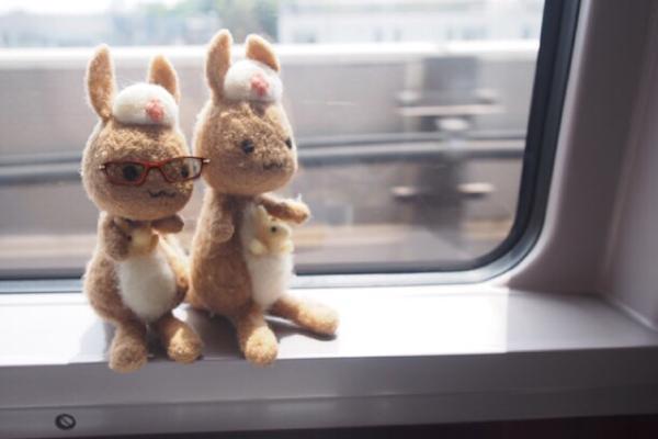 電車の中のかんごるーたち